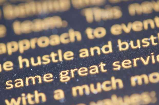 marketing typography close up view letters